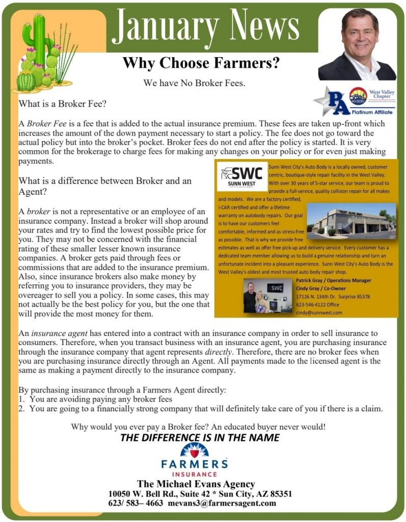 Why Choose Farmers? The Michael Evans Agency